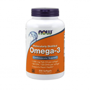 NOW Omega 3 Molecularly Distilled 200 softogel