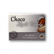 Choco Light CANDY с карамелью и фундуком (конфеты без сахара 6 штук) 50 gr