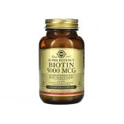 Solgar Biotin (B7) 5000mcg 50 veg caps