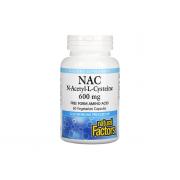 Natural Factors NAC N-Acetyl-L-Cysteine 600mg 60 veg caps
