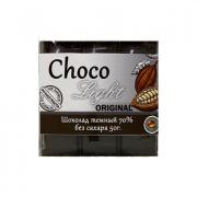 Choco Light Original Сacao 70% без сахара (тёмный шоколад) 50 g