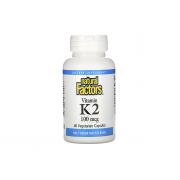 Natural Factors Vitamin K2 100mg 60 veg caps