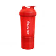 BeFirst Шейкер 3 в 1 с сеткой 600ml (красный)