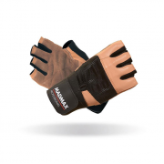 MADMAX Перчатки Professional MFG269 с фиксатором запястья (черно-коричневые)