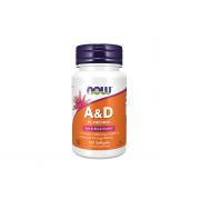 NOW Vitamin A&D 10000IU/400UI 100 softgels