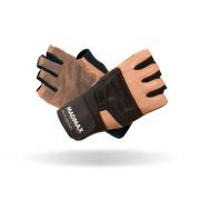 MADMAX Перчатки Professional MFG269 с фиксатором запястья (черно-белые)